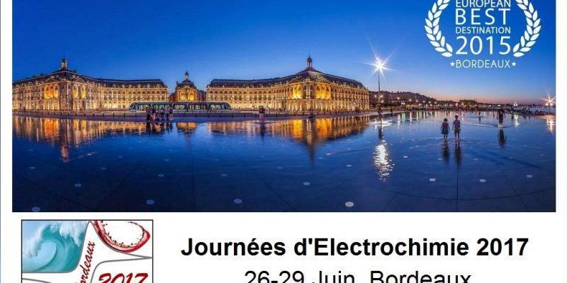 Journées d'électrochimie 2017, 26-29 juin, Bordeaux