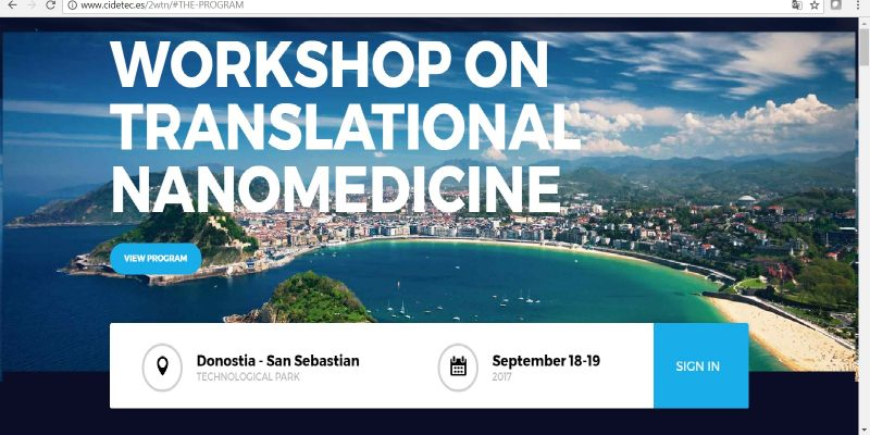 2nd Workshop on Translational Nanomedicine